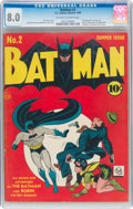 Golden Age (1938-1955):Superhero, Batman #2 (DC, 1940) CGC VF 8.0 Off-white to white pages....