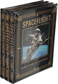 Explorers:Space Exploration, Buzz Aldrin Signed Leather-Bound Limited Edition Books (Three Copies, Still Sealed): Spaceflight, Originally from ... (Total: 3 Items)