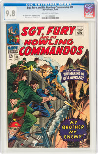 Sgt. Fury and His Howling Commandos #36 (Marvel, 1966) CGC NM/MT 9.8 Off-white to white pages