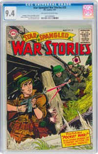 Star Spangled War Stories #33 (DC, 1955) CGC NM 9.4 Off-white to white pages