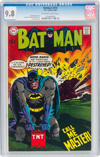 Batman #215 (DC, 1969) CGC NM/MT 9.8 Off-white to white pages