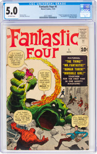Fantastic Four #1 (Marvel, 1961) CGC VG/FN 5.0 Off-white pages