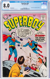 Superboy #68 (DC, 1958) CGC VF 8.0 Off-white to white pages