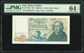 World Currency, Italy Banca d'Italia 5000 Lire 1971 Pick 102a PMG Choice Uncirculated 64 EPQ.. ...