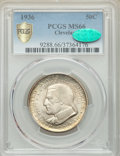 1936 50C Cleveland MS66 PCGS. CAC. PCGS Population: (727/77 and 37/16+). NGC Census: (525/62 and 13/4+). CDN: $160 Whsle...