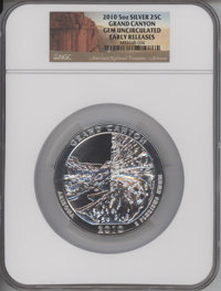 2010 25C Grand Canyon Five Ounce Silver, Early Releases, Gem Uncirculated NGC. NGC Census: (1994/5363). PCGS Population:...