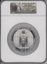 2010 25C Hot Springs Five Ounce Silver, Early Releases, Gem Uncirculated MS65 NGC. NGC Census: (2018/5081). PCGS Populat...
