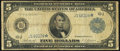 Fr. 882* $5 1914 Federal Reserve Star Note Very Good