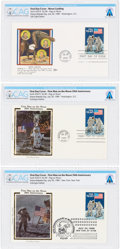 Explorers:Space Exploration, Philatelia: 1989 Moon Landing 20th Anniversary Priority Stamp First Day Covers (Three) Directly From The Armstrong Family ...