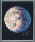 "Explorers:Space Exploration, Alan Bean Signed Limited Edition, #29/150, ""A Most Beautiful Moon"" Giclée Canvas. ..."