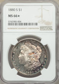 1880-S $1 MS66★ NGC. NGC Census: (11873/3569 and 379/261*). PCGS Population: (11212/2621 and 379/261*). MS66. Mintage 8...