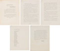 Movie/TV Memorabilia:Documents, Marilyn Monroe Eulogy Written and Given By Lee Strasberg With Program (1962). ...