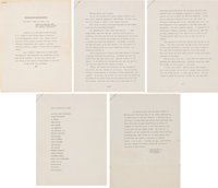Marilyn Monroe Eulogy Written and Given By Lee Strasberg With Program (1962)