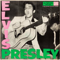 Music Memorabilia:Autographs and Signed Items, Elvis Presley Signed and Inscribed Self-Titled LP (RCA, LPM-1254)....
