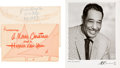 Music Memorabilia:Autographs and Signed Items, Duke Ellington Archive Including Christmas Cards, Hand-Addressed Envelope, Contracts and More (circa 1960s)....