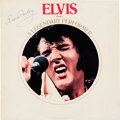 Music Memorabilia:Autographs and Signed Items, Elvis Presley Signed A Legendary Performer Volume 1 LP Cover (RCA, 1974)....