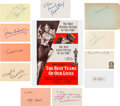 Movie/TV Memorabilia:Autographs and Signed Items, The Best Years of Our Lives Cast Autograph Collection (11) (1946). ...
