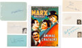 Movie/TV Memorabilia:Autographs and Signed Items, Marx Brothers/ Animal Crackers Cast Autograph Collection (6) (1930). ...