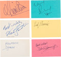 Movie/TV Memorabilia:Autographs and Signed Items, Gladiator Cast Autograph Collection (6) (2000). ...
