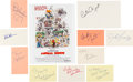 Movie/TV Memorabilia:Autographs and Signed Items, Animal House Cast Autograph Collection (10) (1978). ...