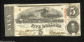Confederate Notes:1863 Issues, T60 $5 1863....