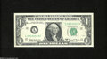 Error Notes:Skewed Reverse Printing, Fr. 1901-L $1 1963A Federal Reserve Note. About Uncirculated....