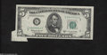 Error Notes:Attached Tabs, Fr. 1965-G $5 1950D Federal Reserve Note. About Uncirculated....