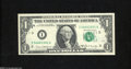 Error Notes:Ink Smears, Fr. 1906-I $1 1969C Federal Reserve Note. Gem CrispUncirculated....