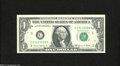 Error Notes:Ink Smears, Fr. 1907-C $1 1969D Federal Reserve Note. Gem CrispUncirculated....