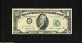 Error Notes:Obstruction Errors, Fr. 2013-B $10 1950C Federal Reserve Note. Very Fine....