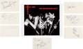Music Memorabilia:Autographs and Signed Items, The Boomtown Rats Autograph Collection (7). ...