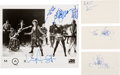 Music Memorabilia:Autographs and Signed Items, INXS Autograph Collection....