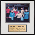 Movie/TV Memorabilia:Star Trek, Star Trek Original Cast Signed Photo and Limited Edition Plaque. ...