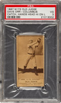 Baseball Cards:Singles (Pre-1930), 1887-90 N172 Old Judge David Orr (#360-4-Columbus) PSA VG 3. ...