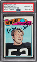 Autographs:Sports Cards, Signed 1977 Topps Mike Webster #99 PSA/DNA Gem Mint 10 Auto....