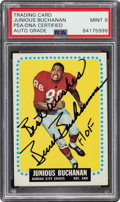 "Autographs:Sports Cards, Signed 1964 Topps Junious ""Buck"" Buchanan #92 PSA/DNA Mint 9 Auto...."