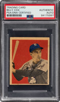 Autographs:Sports Cards, Signed 1949 Bowman Billy Cox #73 PSA/DNA Authentic....