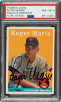 Autographs:Sports Cards, Signed 1958 Topps Roger Maris #47 PSA/DNA NM-MT 8 Auto....