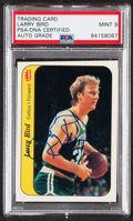 Autographs:Sports Cards, Signed 1986 Fleer Sticker Larry Bird #2 PSA/DNA Mint 9....