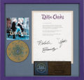 Music Memorabilia:Awards, Dixie Chicks Wide Open Spaces RIAA Hologram Gold Sales Award and Letter (1998). . ...