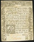 Colonial Notes:Connecticut, Connecticut July 1, 1780 20s Slash Cancel Extremely Fine.. ...
