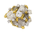 Estate Jewelry:Rings, Diamond, Colored Diamond, Gold Ring, Peter Lindeman . ...