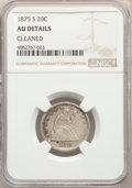 Twenty Cent Pieces, 1875-S 20C -- Cleaned -- NGC Details. AU. NGC Census: (89/2146). PCGS Population: (265/2609). AU50. Mintage 1,155,000....