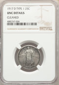 Standing Liberty Quarters, 1917-D 25C Type One -- Cleaned -- NGC Details. Unc. NGC Census: (2/358). PCGS Population: (6/574). CDN: $250 Whsle. Bid for...