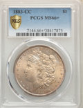 1883-CC $1 MS66+ PCGS. PCGS Population: (2450/236). NGC Census: (1020/133). CDN: $530 Whsle. Bid for problem-free NGC/PC...