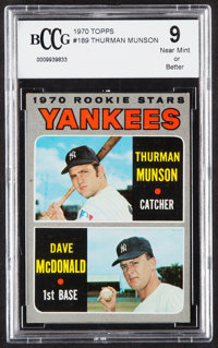 1970 Topps Thurman Munson - Yankees Rookie Stars #189 BCCG NM+ 9