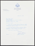 Autographs:Letters, 1967 Jackie Robinson Signed Letter....