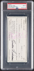 Autographs:Checks, 1975 Ted Williams Signed Check Lot of 2, PSA/DNA Gem Mint 10 & Mint 9....