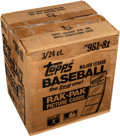 Baseball Cards:Unopened Packs/Display Boxes, 1981 Topps Baseball Rack Rack Case With Three Unopened Boxes....