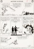 Original Comic Art:Panel Pages, Carmine Infantino and Joe Giella Mystery in Space #84 Story Page 7 Adam Strange Original Art (DC, 1963)....